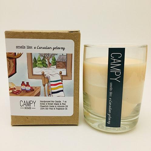 Campy Candle - Smells like: A Canadian Getaway 7 oz.