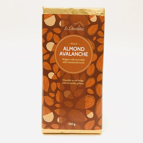 Le Chocolatier Chocolate Bar - Almond Avalanche 100g