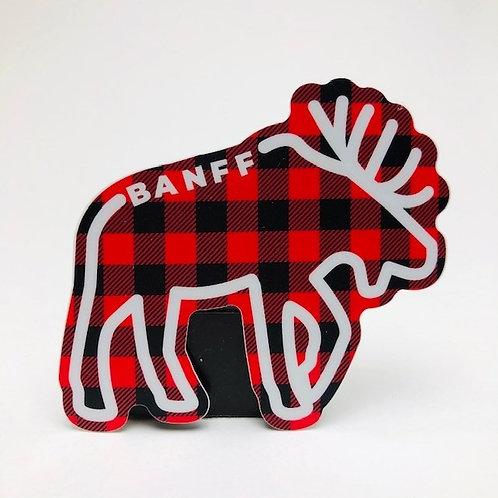 Stickers Northwest Inc -  Banff lumberjack moose
