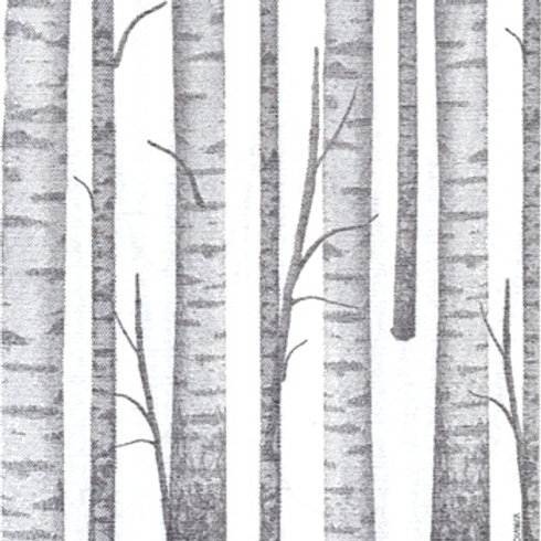 Francoise Paviot Dinner Napkin - Birch Trees