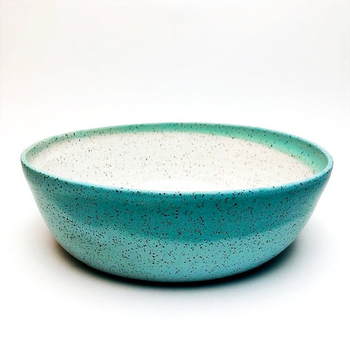 Monashee Pottery - bowl large speckled robin's egg blue