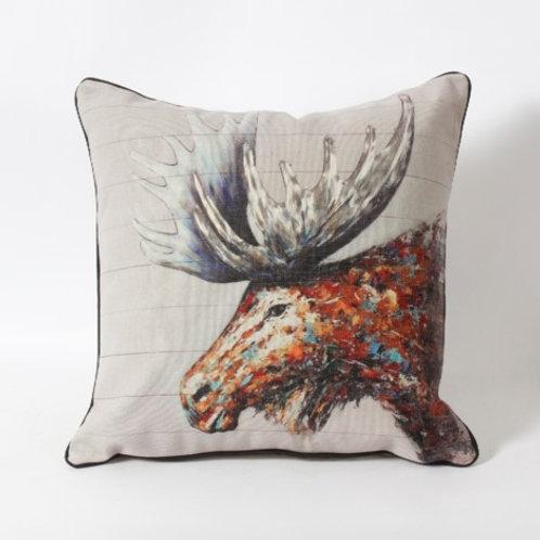 Colorful Moose cushion