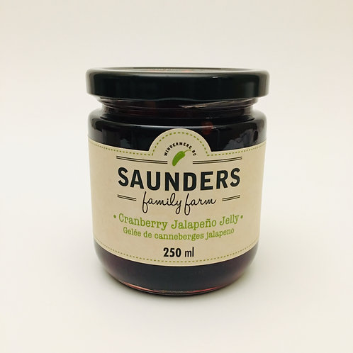 Saunder's Family Farm Cranberry Jalapeno Jelly - 250mL