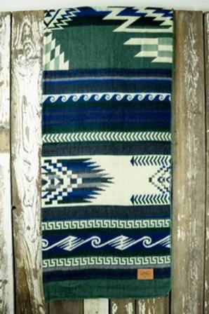 """Heartprint Threads Queen Blanket - 80 x 92"""" new blue"""