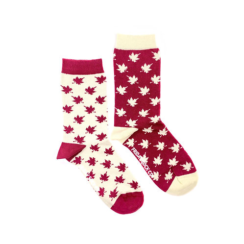Friday Sock Co - Women's Oh Canada maple leaf