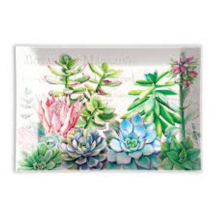 Michel Design Works - pink cactus glass soap dish