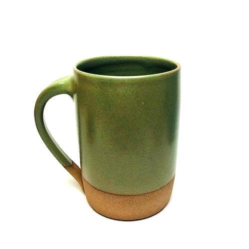 Monashee Pottery - handle mug emerald green
