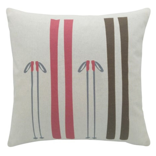Skis & Poles cushion