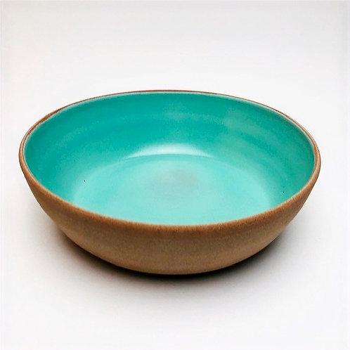 Monashee Pottery - bowl large turquoise blue
