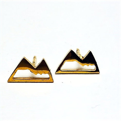 Wonderland - mountain stud earrings gold