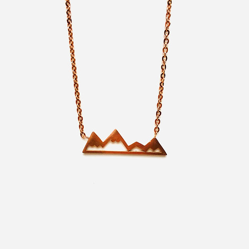 Wonderland - mountain necklace rose gold
