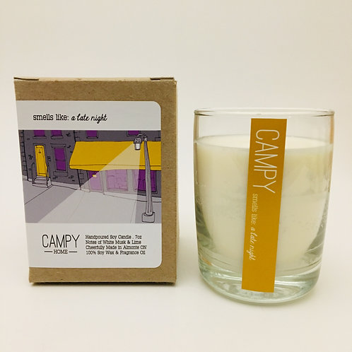 Campy Candle - Smells like: A Late Night 7 oz.