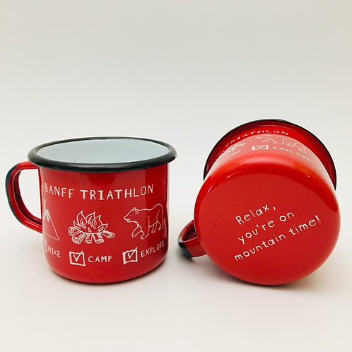 Branches Brand - 'Banff Triathlon' Enamel Camp Mug
