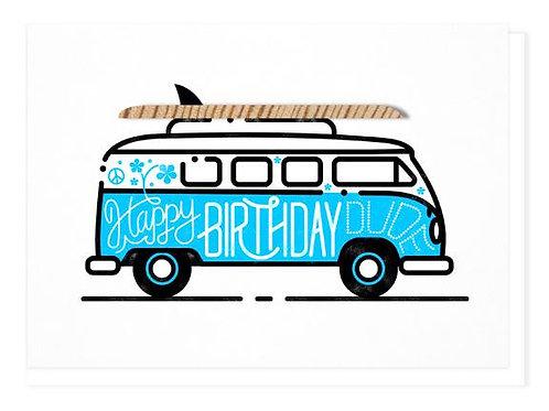 Wilder - Happy Birthday Dude blue card