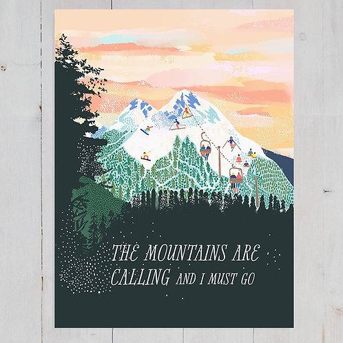 Anja Jane - Mountains Are Calling print
