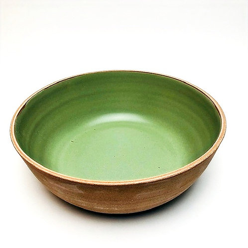 Monashee Pottery - bowl large emerald green
