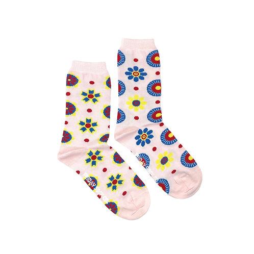 Friday Sock Co - Women's Scandinavian flowers