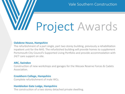 Recent Project Awards