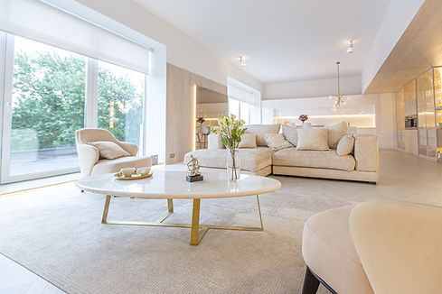 trendy modern interior design of a large