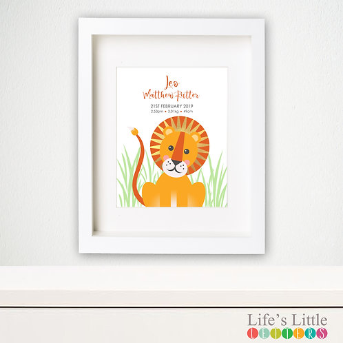 Lion birth print
