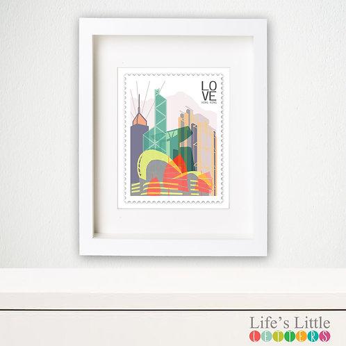 Hong Kong City Stamp