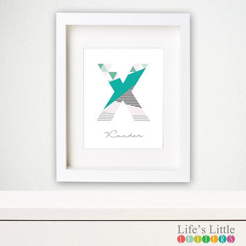 Letter print