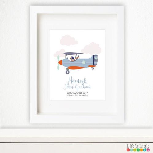 Aeroplane birth print