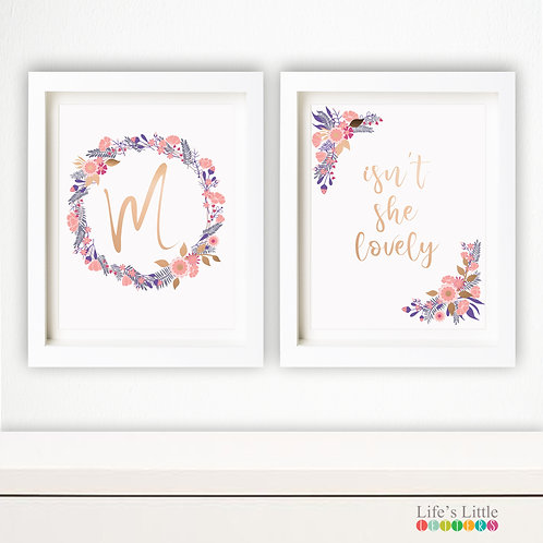 Isn't She Lovely set of two prints