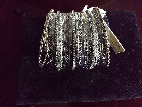 Bangle, Bangle, Silvertone, Madison Avenue Bangles, Jewelry 44