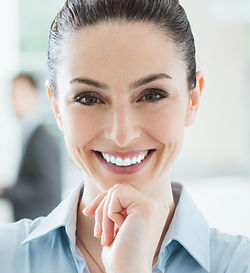 Confident beautiful smiling business wom