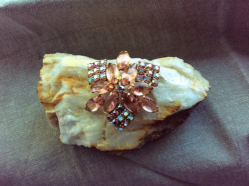 Vintage, Pink Rhinestone, Brooch Jewelry 90