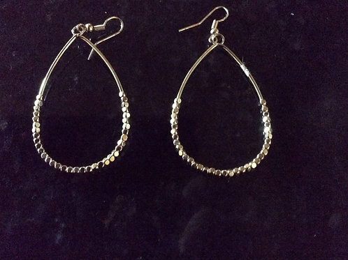 Earrings, Beaded Gold Plated, Jewelry 42