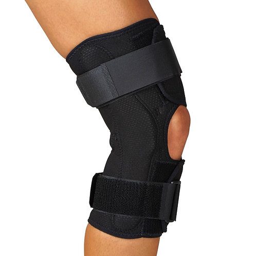 "Wrap-around Hinged Knee Brace, 12"" Height"