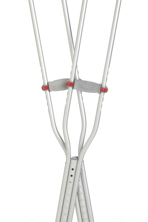 Red Dot Aluminum Crutches
