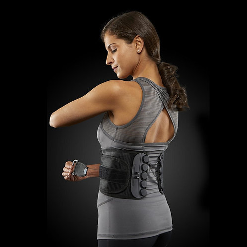 Back Support with Low-Friction Pulley System