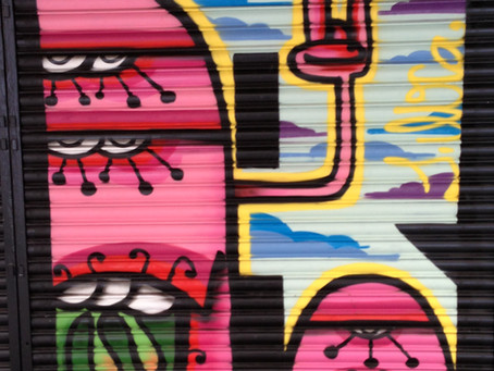 Security doors and murals of Barcelona