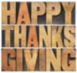 Happy Thanksgiving  - isolated text in v