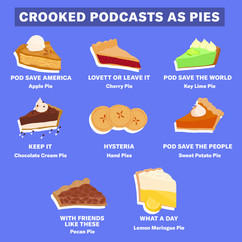 Crooked Podcasts as Pies