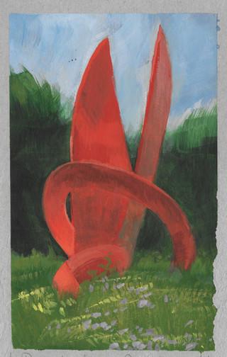 Sculpture in local park.
