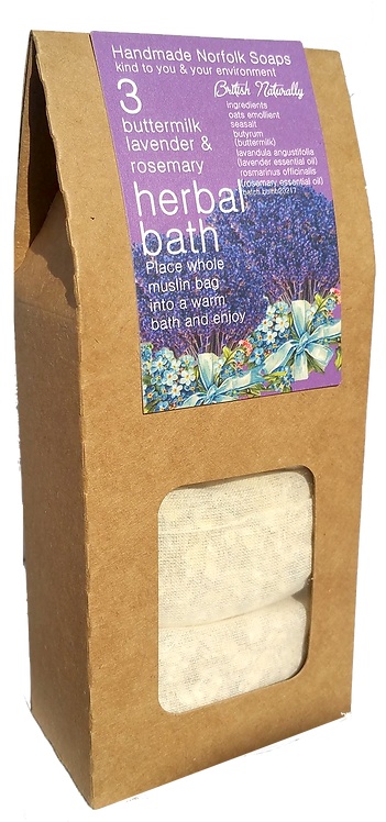 Lavender & Rosemary Buttermilk Herbal Baths