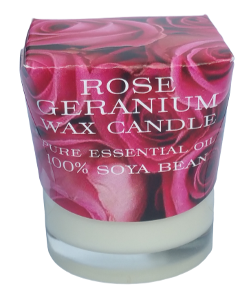 Rose Geranium Soya Wax Spa Candle