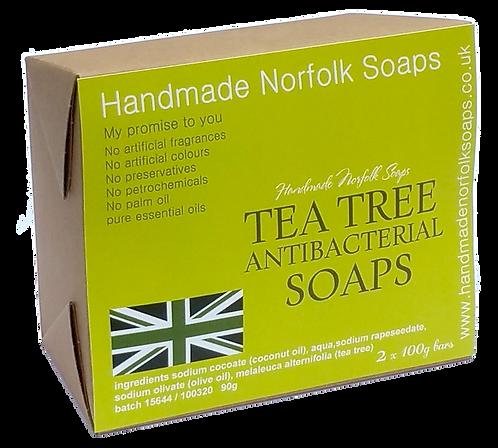 Antibacterial Tea Tree 2 Bar Box