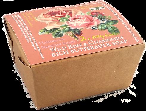Rose & Chamomile Buttermilk 2 Bar Box