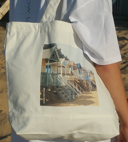 Luxury Canvas Bag  Wells-next-the-sea Beach Huts