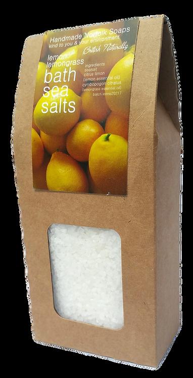 Lemon & Lemongrass Bath Sea Salts
