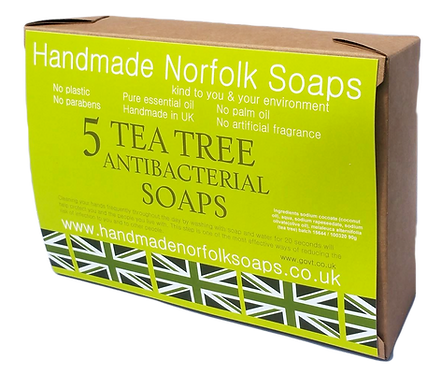 Tea Tree Antibacterial 5 Bar Box