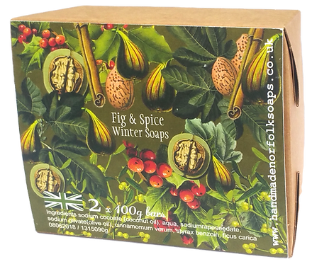 Fig & Spice Winter Christmas Soaps  2 bar box