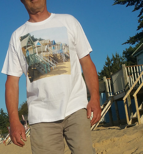 Cotton T Shirt  Wells-next-the-sea Beach Huts
