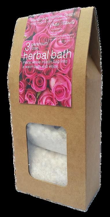 Rose Geranium Herbal Bath