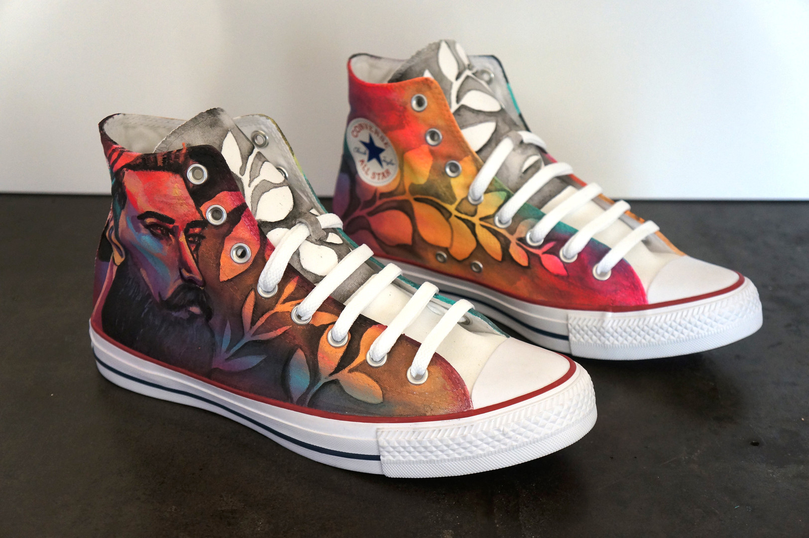 """Color Theory"" Custom Painted Converse Shoes"